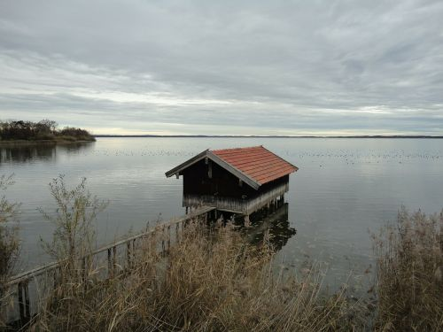 chiemsee water boat house