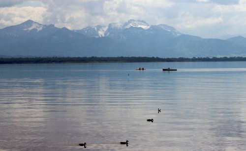 chiemsee landscape mountains