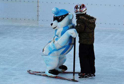 child skating ice skating