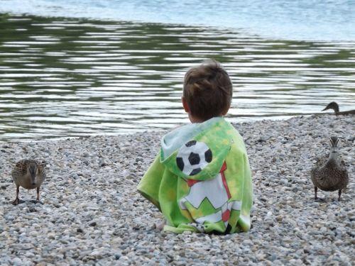 child duck lake