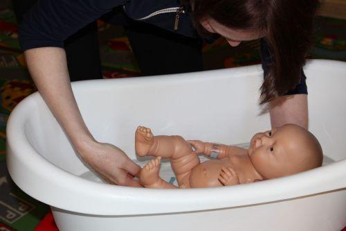 child doll bath
