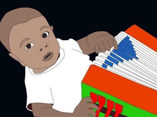 child accordion black