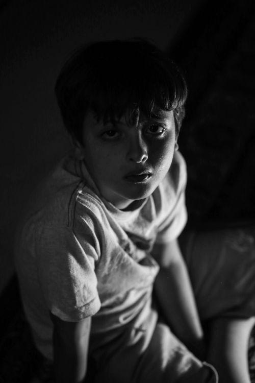 child sad portrait