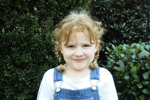 child girl pigtails