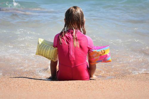 child sea girl