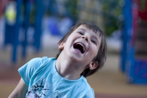 child laughter happy
