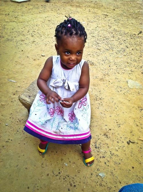child girl african