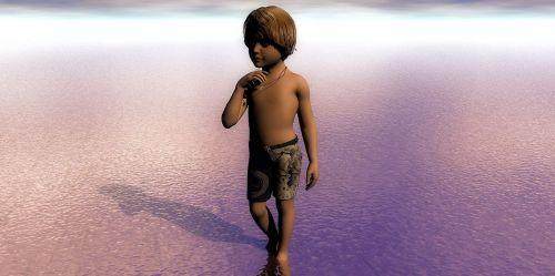 child water blond