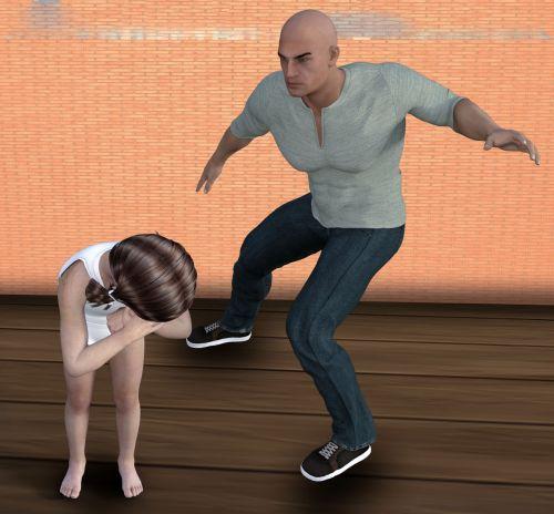 child traumatized beaten