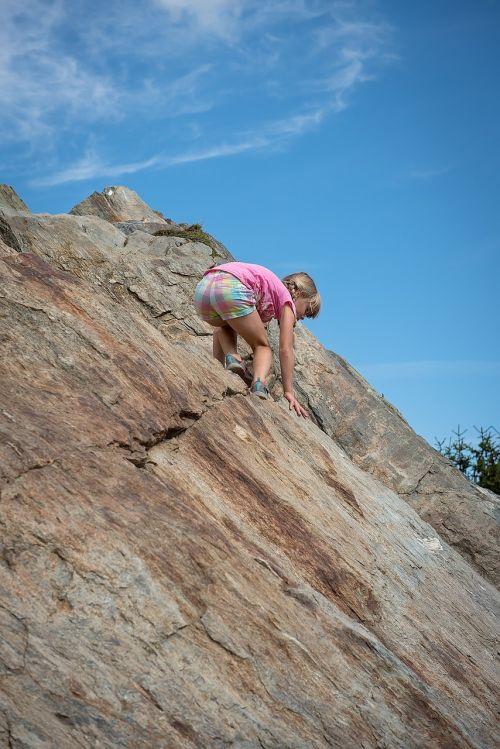 child girl climb