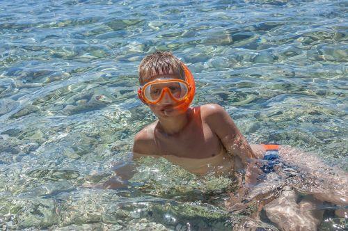child boy dive