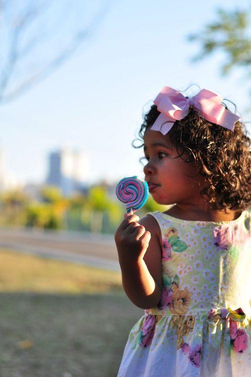 child lollipop girl