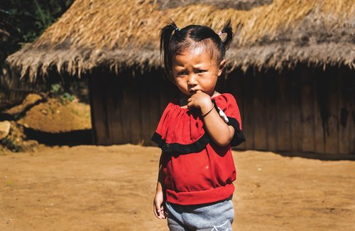 child  luang prabang  laos