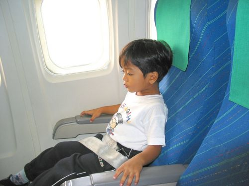child boy airplane