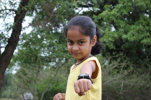 child  girl  fist