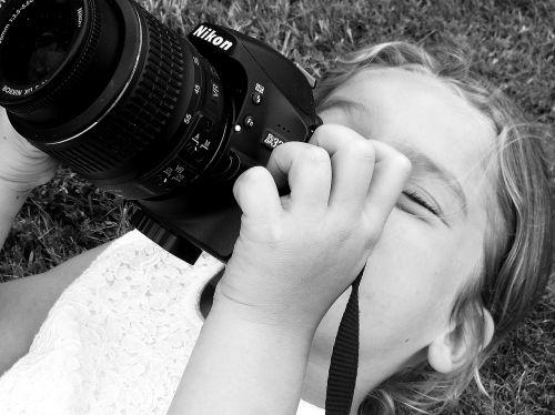 child girl black and white