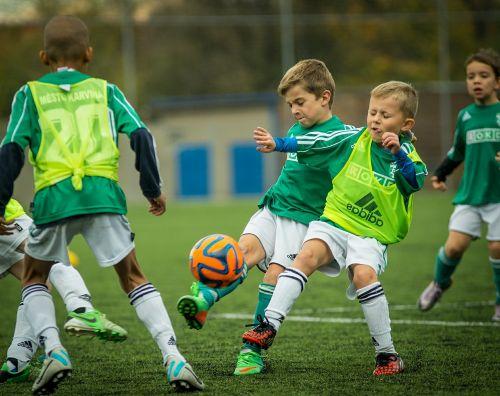 child footballer shot