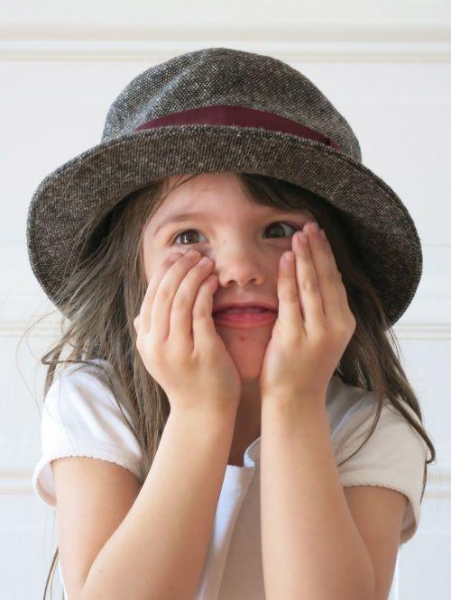 child hat joy