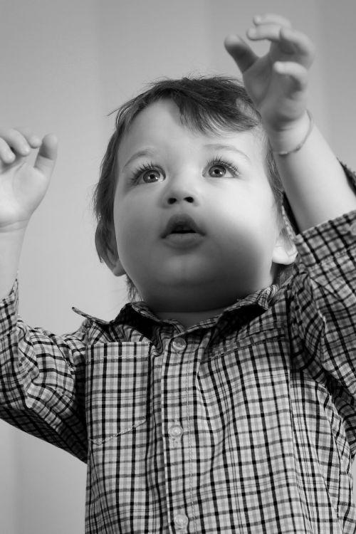 child innocence black and white