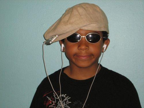 child hat sunglasses
