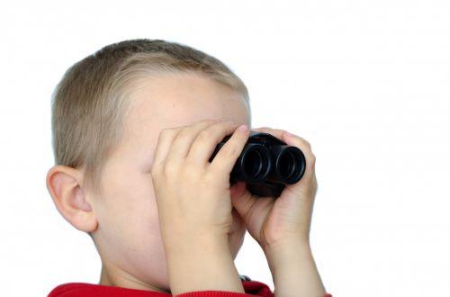 Child And Binoculars