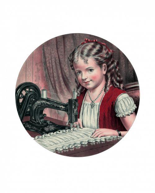 Child At Sewing Machine