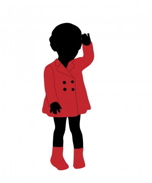 Child Black Silhouette Girl