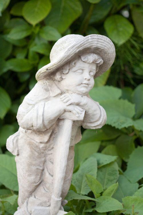 Child Garden Statue