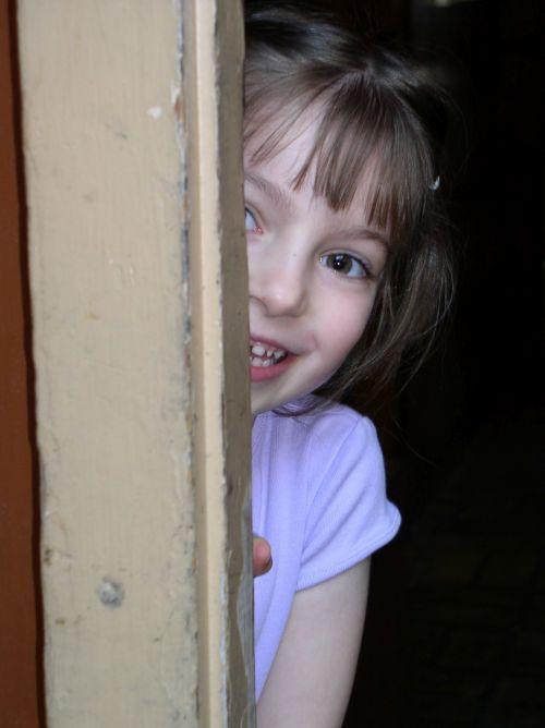Child Peeking Out