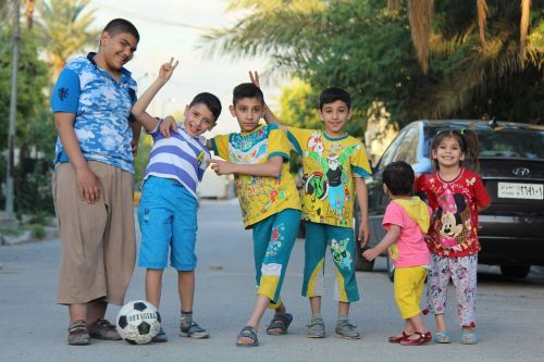 childhood boys playing