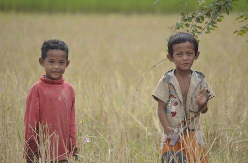vaikai,Kambodža,asija