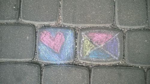 children chalk road