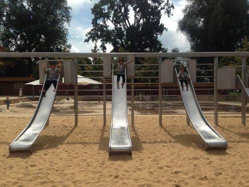 children slide playground