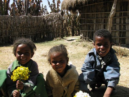 children africa ethiopia village