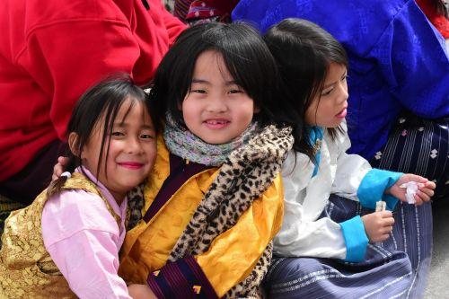 children playing bhutan