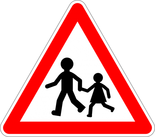 children traffic sign sign
