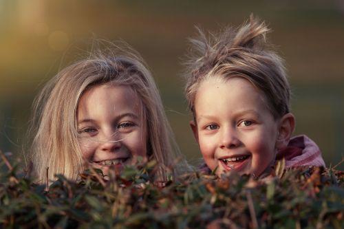 children garden autumn