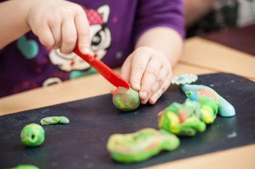 children play dough play