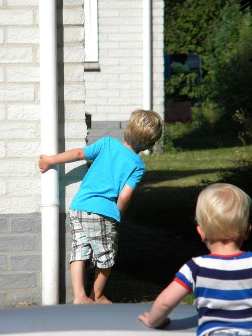 children playing boys