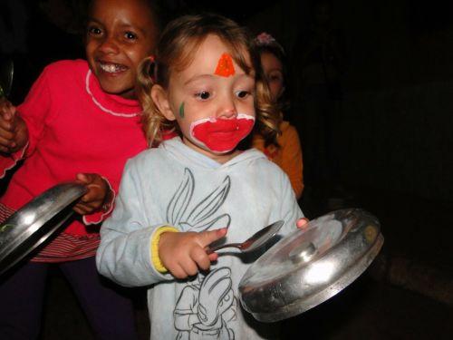 children clown happy