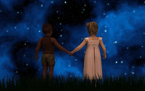children forward skin color