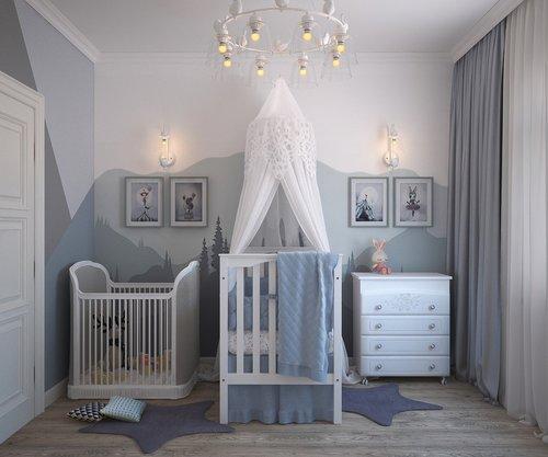 children  room newborn  the cradle