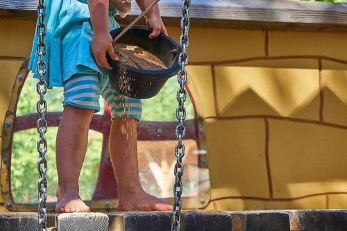 children  playground  sand