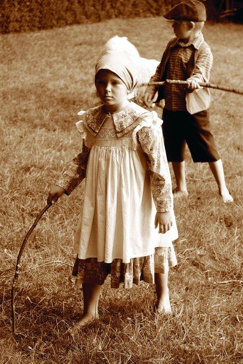 children  shepherds  1800 century