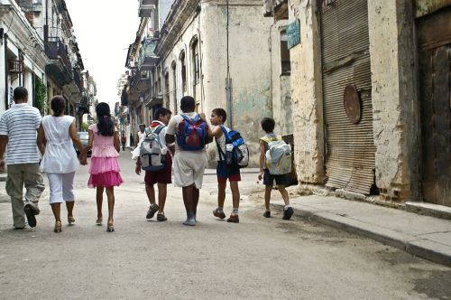 children school walk