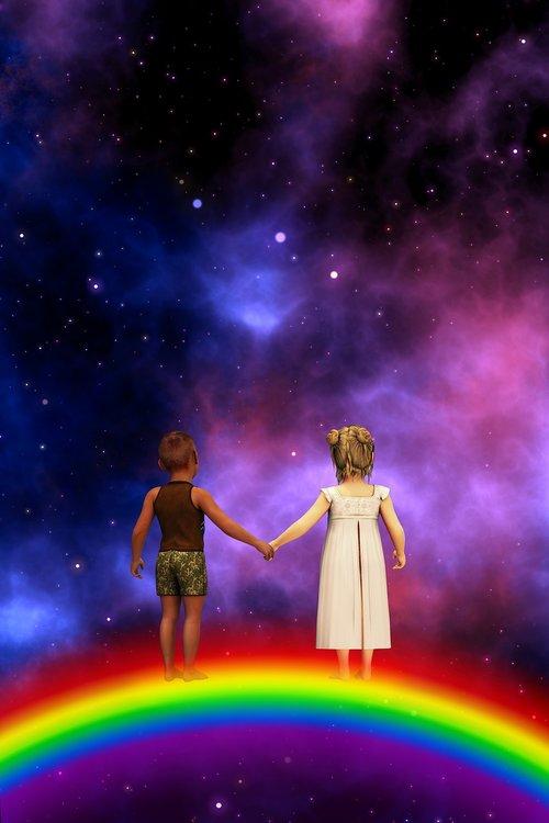 children  rainbow  universe
