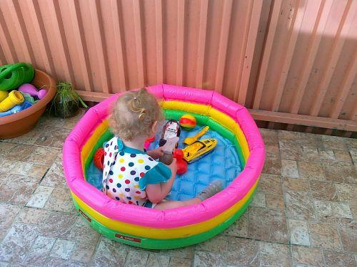 children summer bathing