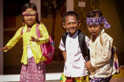 children school children girl