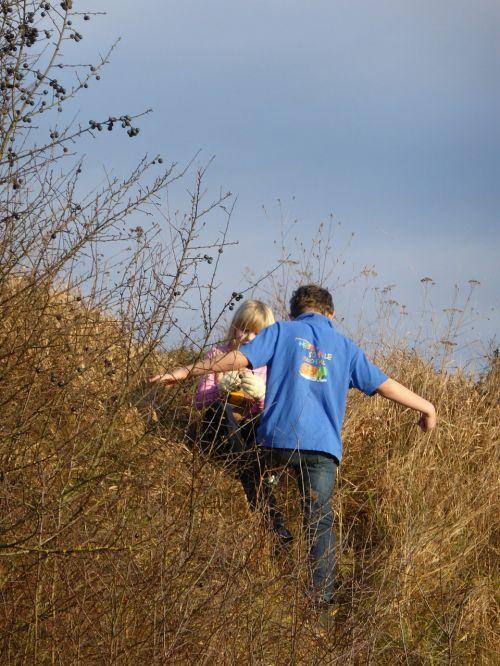 children play nature