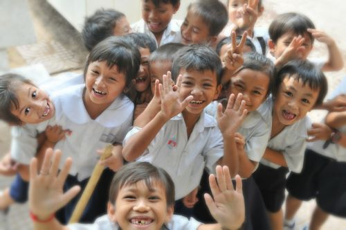 children school laughing